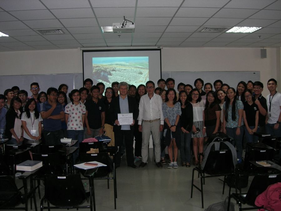 Lecture in the University Of Philippines, Department of Chemical Engineering