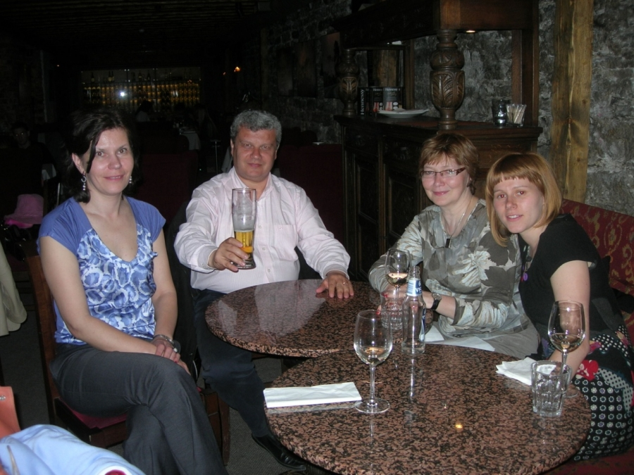 Dr Vladimir Vissikirsky from National Academy of Sciences of Ukraine and his wife with Ioannis ( Academic visit in Kiev, 2005)
